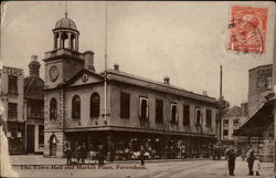 The Town Hall and Market Place Postcard