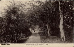 Lovers Walk Postcard