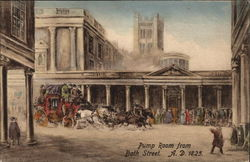 Pump Room from Bath Street A.D. 1825