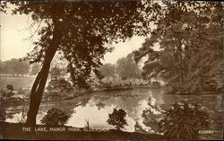 The Lake, Manor Park Postcard