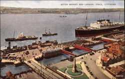 River Mersey and Landing Stage
