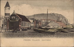 Fishing Village Postcard