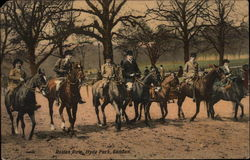 Horses on Rotten Row in Hyde Park, London