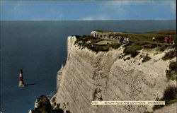 Beachy Head and Lighthouse Postcard