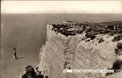 Beachy Head and Lighthouse in Eastbourne Postcard