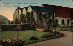 Prittlewell Prioiry, showing Restored Refrectory Postcard