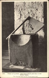 Tower of London - Execution Block and Axe in the White Tower