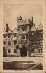 Oriel College in Oxford, England Postcard