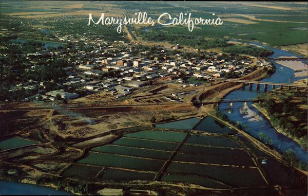 Aerial View of Marysville California