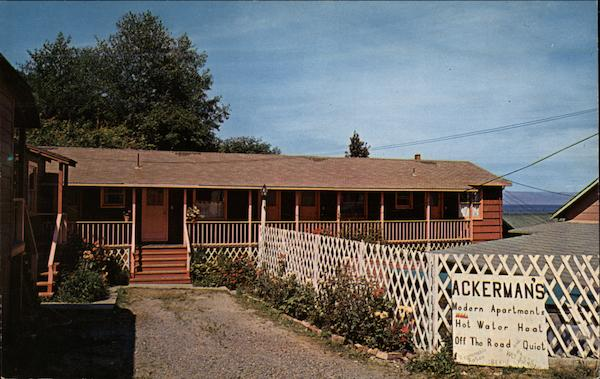 Ackerman's Motel Sekiu Washington Herman and Evelyn