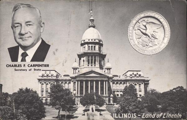 Charles F. Carpentier, Secretary of State Springfield Illinois