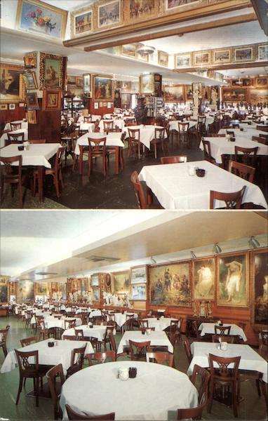 Interior Views of Haussner's Restaurant Baltimore Maryland