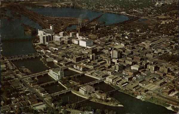 Aerial View of City Cedar Rapids Iowa