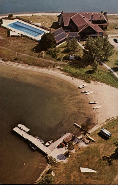 Aerial View, Old Mill Point, Cedar Campus Cedarville Michigan