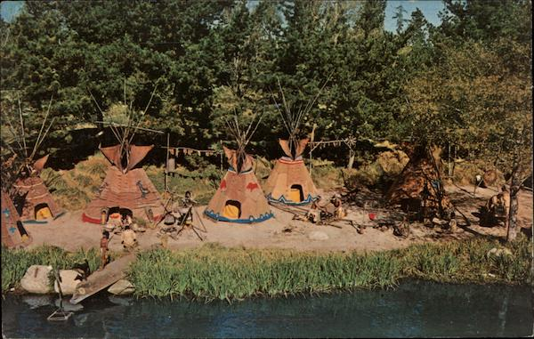 Peaceful Indian Village, Disneyland Anaheim California