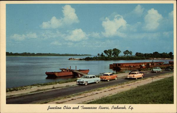 Junction Ohio and Tennessee Rivers Paducah Kentucky