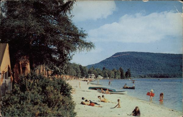 Camp-of-the-Woods Beach on Lake Pleasant in the Adirondack ...