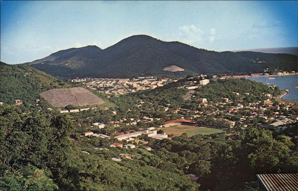 Bird's Eye View of the City of Charlotte Amalie, St. Thomas Virgin Islands