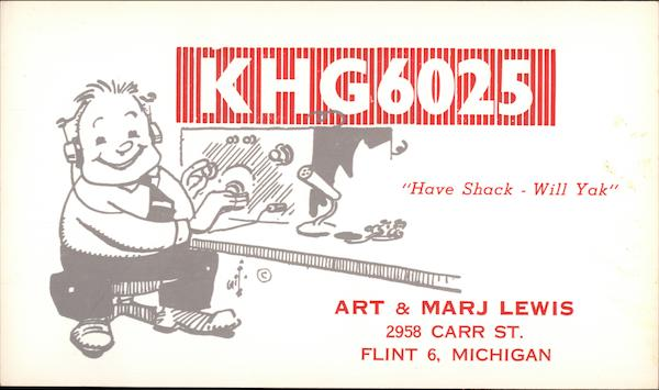 KHG6025 Flint Michigan QSL & Ham Radio