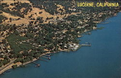 Aerial View of Resort Postcard