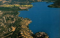 Clearlake Highlands Resort Area Postcard
