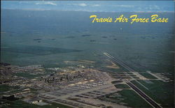 Aerial view of Travis Air Force Base
