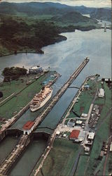 TSS Fairsea Crossing the Panama Canal