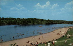 Bathing Beach and Lake