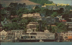 The Trade Fair with Sausalito in the Backgound