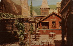 Old Fashioned German Beer Garden Postcard