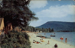 Camp-of-the-Woods Beach on Lake Pleasant in the Adirondack Mountains