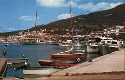 Waterfront scene at Charlotte Amalie Postcard