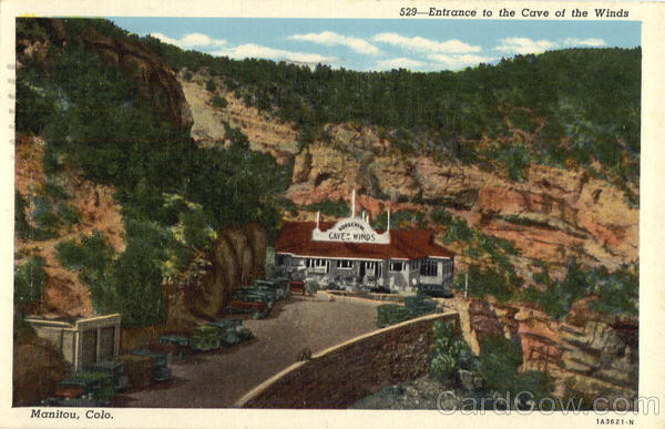 Entrance to the Cave of the Winds Manitou Colorado