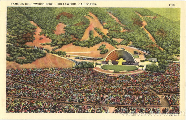 Famous Hollywood Bowl California