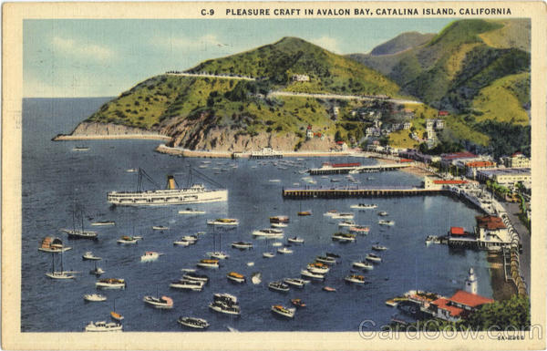 Pleasure Craft in Avalon Bay Catalina Island California