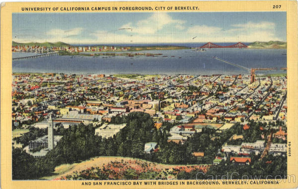 University of California Campus In Foreground Berkeley