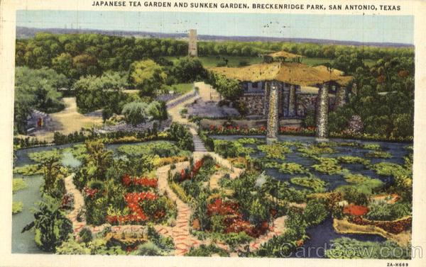 Japanese Tea Garden And Sunken Garden Breckenridge Park San Antonio Tx