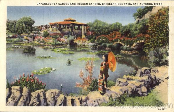 Japanese tea garden and sunken garden breckenridge park - Japanese tea garden san antonio restaurant ...