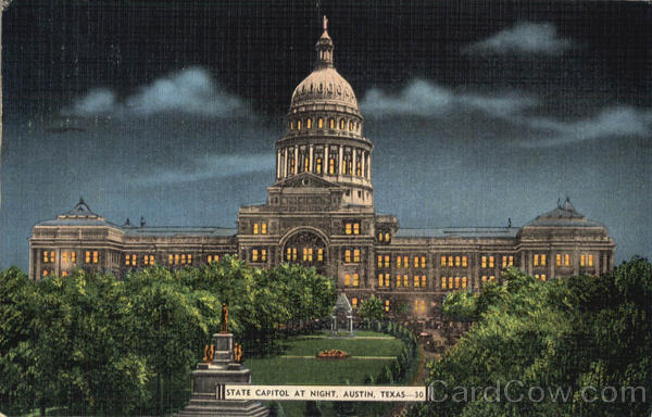 State Capitol At Night Austin Texas