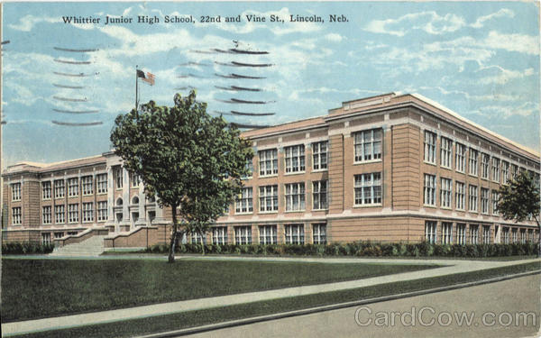 Whittier Junior High School, 22nd and Vine St. Lincoln Nebraska