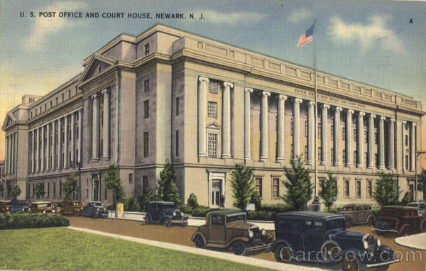 U. S. Post Office And Court House Newark New Jersey