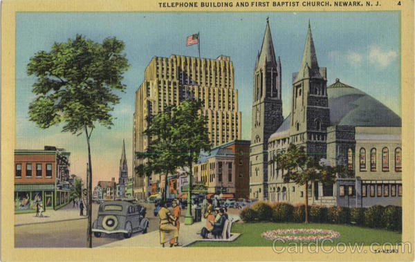 Telephone Building And First Baptist Church Newark New Jersey