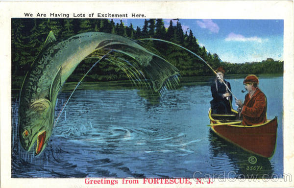 Greetings from Fortescue New Jersey Fishing