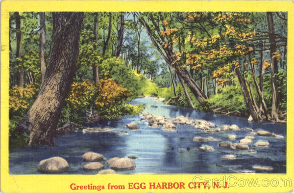 Greetings From Egg Harbor City New Jersey