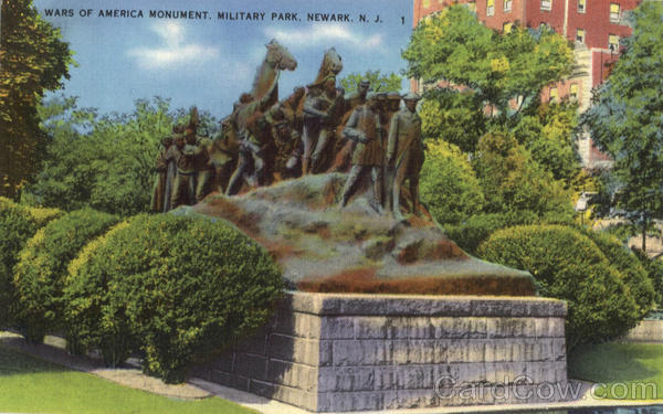Wars Of America Monument, Military Park Newark New Jersey