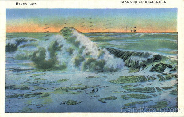 Rough Surf Manasquan Beach New Jersey