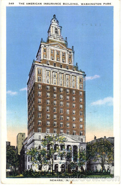 The American Insurance Building, Washington Park Newark New Jersey