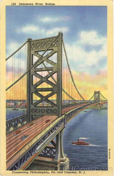 Delaware River Bridge Camden New Jersey