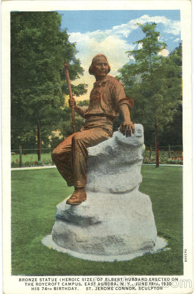 Roycroft Campus Bronze Statue of Elbert Hubbard East Aurora New York