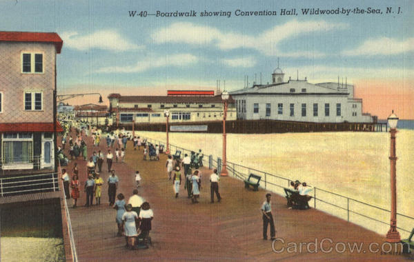 Boardwalk Showing Conventin Hall Wildwood-by-the-Sea New Jersey